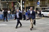 Torres y su abogado al ir a buscar a la Audiencia de Palma de Mallorca la orden de ingreso en prisión