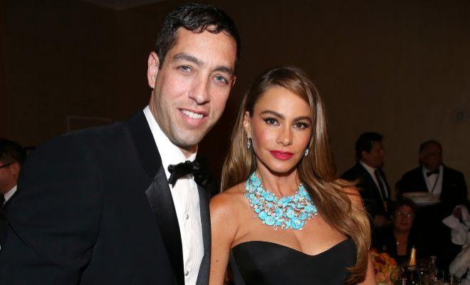 Sofía Vergara junto a su ex Nick Loeb