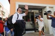El alcalde de Cádiz, a su llegada al juzgado donde declaró como investigado.