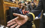 Pedro Sánchez, ayer, en la sesión de control al Ejecutivo.