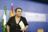 La diputada de Podemos Andalucía, Ángela Aguilera.
