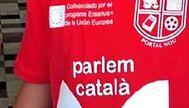 Camiseta del colegio público Portal Nou de Ibiza con el logo en las camiseta
