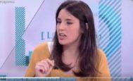 Irene Montero, durante la entrevista en 'Los Desayunos de TVE'.