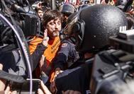 Rafael Mayoral, en un momento de la protesta de trabajadores de Alcoa el pasado marzo.