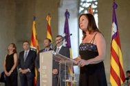 Francina Armengol en su discurso de toma de posesión.