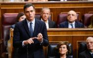 El presidente del gobierno en funciones, Pedro Sánchez, en la Sesión de Control al gobierno del 18 de septiembre.