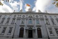 Fachada principal del Tribunal Supremo en Madrid