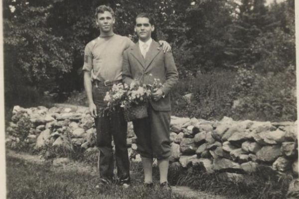 Lorca con su amigo Philip Cummings en Eden Mills, Vermont, 1929.
