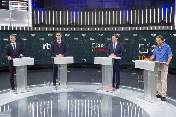 Debate de los principales candidatos a las elecciones generales del pasado 28 de abril.
