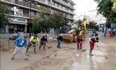 Inundaciones en Arganda del Rey, en la Calle Real el pasado 15 de...