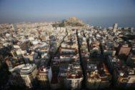 Panorámica de la ciudad de Alicante, en imagen de archivo.