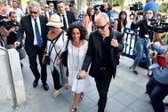 Patricia Ramírez, madre de Gabriel Cruz, a su llegada a la Audiencia Provincial de Almería