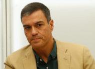 Pedro Sánchez, ayer, en la reunión del Comité Ejecutivo Federal en Ferraz.