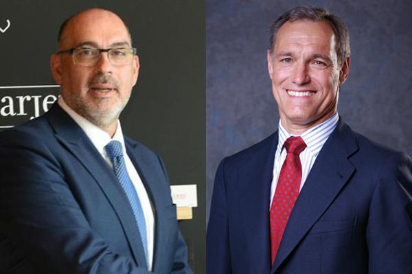 Emilio Gayo, presidente de Telefónica España (izquierda.), y Silvio González, CEO de Atresmedia.