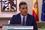 Pedro Sánchez, durante su entrevista en La Sexta