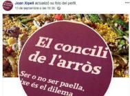 Xipell presenta este viernes 'El concili de l'arròs' en el World Paella Day de Valencia.