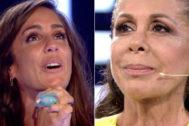 Isabel Pantoja entró en directo para apoyar a su sobrina Anabel en GH VIP 2019 en Telecinco