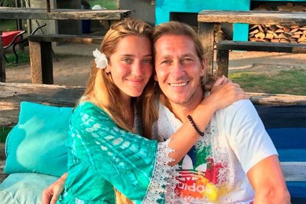 Michel Salgado con su hija, Malu Salgado