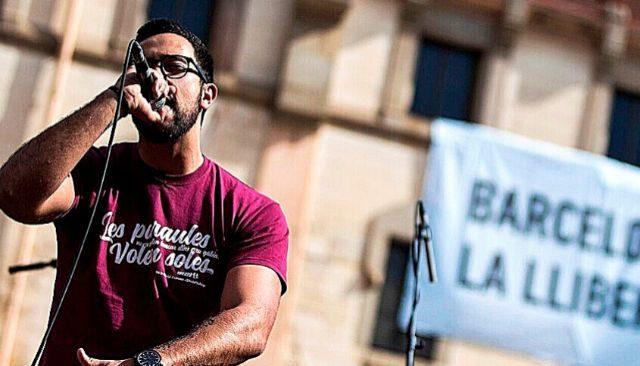 El rapero condenado por injurias, Valtonyc, en un concierto.