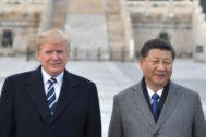 Los presidentes de EEUU, Donald Trump, y China, Xi Jinping, durante un encuentro en el país asiático.