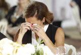 Lola Fernández Ochoa, emocionada durante el evento.