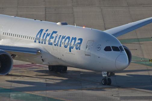 Detalle de una avión de Air Europa.