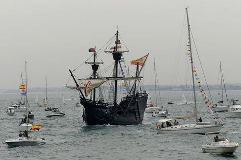 La Nao Victoria vuelve a navegar 500 años después del viaje de Elcano y Magallanes
