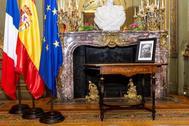 La mesa donde Manuel Azaña firmó su renuncia como presidente de la República