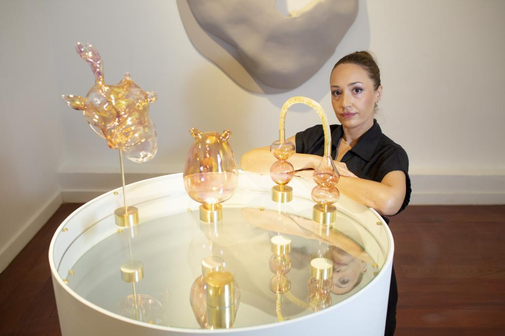 La artista Sandra Val.