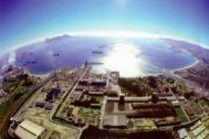 Vista aérea factoría Acerinox en Algeciras.