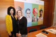 Presentación de la programación del teatro Arniches, en al que participaron la secretaria autonómica Raquel Tamarit y Alicia Garijo.
