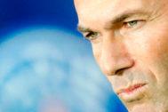 Zidane, durante la rueda de prensa en París.