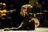 La bailaora Ana Morales en un momento del estreno en Sevilla de 'Lo indefinido'.