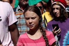Greta Thunberg, en las protestas de Nueva York.