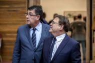 Enric Morera y Ximo Puig y las Cortes Valencianas.