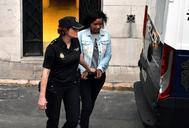 Ana Julia Quezada sale de la Audiencia Provincial de Almería tras el veredicto.