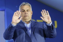 Rome (Italy).- Hungarian Prime Minister Viktor <HIT>Orban</HIT> speaks at the 'Atreju 19' political meeting, the Youth Festival of the right-wing Brothers of Italy (Fdl, Fratelli d'Italia) party, in Rome, Italy, 21 September 2019. (Hungría, Italia, Roma) EPA/