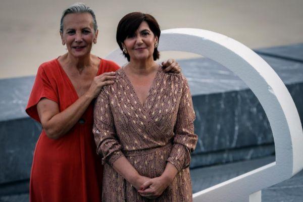 Elena Irureta (i) y Ane Gabarain, protagonistas de 'Patria'.