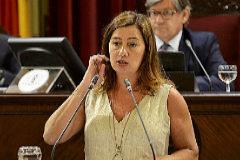 Francina Armengol durante el pleno del pasado martes.