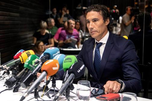 Pablo Ruiz, ex director de Emergencias de Murcia, en rueda de presan...