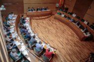 Pleno de la Diputación de Valencia.