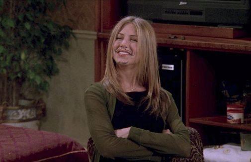 Rachel en un fotograma de 'Friends'