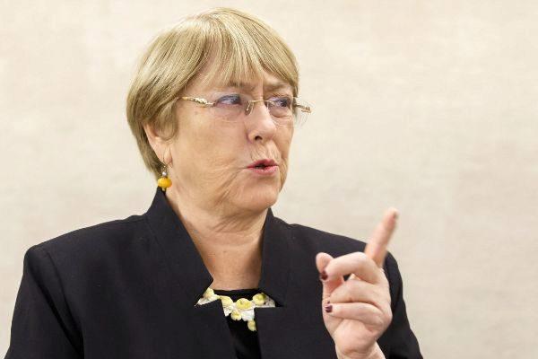 Geneva (Switzerland).- UN High Commissioner for Human Rights Chilean...