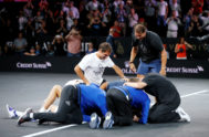 <HIT>Laver</HIT> Cup Tennis - <HIT>Laver</HIT> Cup - Palexpo, Geneva, Switzerland - September 22, 2019 Team Europe's Alexander Zverev, Stefanos Tsitsipas, Roger Federer, Rafael Nadal and team mates huddle together on the floor as they celebrate winning the <HIT>Laver</HIT> Cup REUTERS/Pierre Albouy