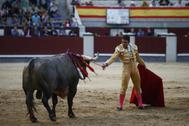 Impresionó la actitud desnuda de Sergio Serrano, este domingo en Las Ventas.