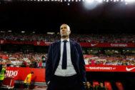 Zidane, en el Sánchez Pizjuán.