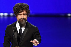 == FOR NEWSPAPERS, INTERNET, TELCOS & TELEVISION USE ONLY == LOS ANGELES, CALIFORNIA - SEPTEMBER 22: Peter <HIT>Dinklage</HIT> accepts the Outstanding Supporting Actor in a Drama Series award for 'Game of Thrones' onstage during the 71st Emmy Awards at Microsoft Theater on September 22, 2019 in Los Angeles, California. Kevin Winter/Getty Images/AFP