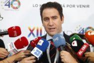 Teodoro García Egea, en el Pleno de la FEMP celebrado este fin de semana.