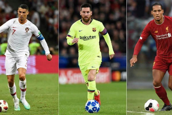 Cristiano, Messi y Van Dijk, nominados al The Best