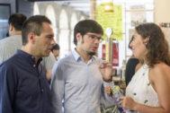 Andeka Larrea y Lander Martínez en una comparecencia.